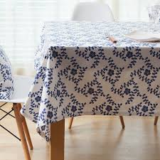 blue and white table runner cotton tablecloth table runner placemat blue and white traditional