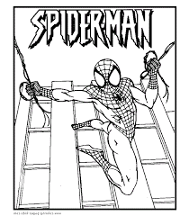 spiderman printable coloring picture kids spiderman