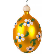 blown glass ornaments easter springtime eggs