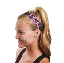 elastic headbands cheer headbands custom headbands lettered headbands collegiate