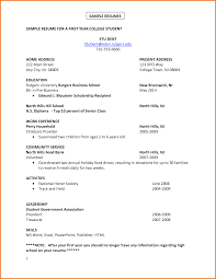 Sample Resume For College Student With No Experience Internship Resume Sample For College Students College Student