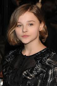 just below the chin length bob haircut chloe grace moretz short hairstyles under curled chin length bob