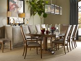 chaddock dining room volterra pedestal and trestle dining table