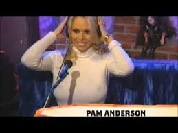 Cele bitchy   Pamela Anderson signs on for  Dancing With the Stars  Archive   The Indian Express Pamela Anderson is famous because of her chest  Her breast implants have  changed during the years  but one thing remains  they are big