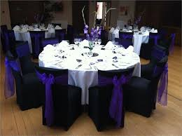 Purple Chair Sashes Striking Black Chair Covers With Cadbury Purple Sashes From