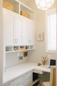 White L Shaped Desks L Shaped Desk With White Quartz Countertop Transitional Den