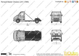 renault master 2001 the blueprints com vector drawing renault master chassis l2h1