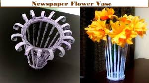 how to make newspaper flower vase guldasta unique diy easy kids