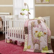 Dahlia Nursery Bedding Set by Bedding Balboa Baby Deluxe Piece Bumper Grey Dahlia Coral Bloom