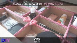diy cosmetic drawer organizers makeup organization idea youtube