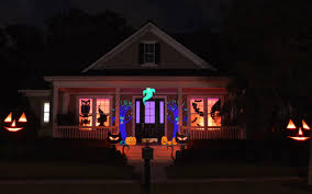halloween yard decorations outdoor sparkling pumpkin porch light