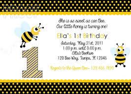 adorable bumble bee custom birthday invitation by customparty4u