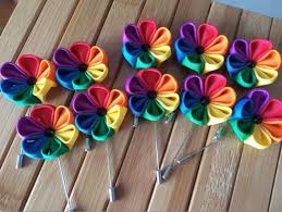 Lapel Flower 70pcs Lot Rainbow Pride 100 Manual Wedding Party