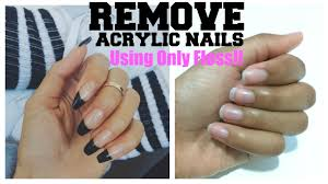 nail art how to take off acrylic nails without acetone with