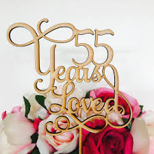55th wedding anniversary 55 years loved cake topper anniversary cake topper cake decoration