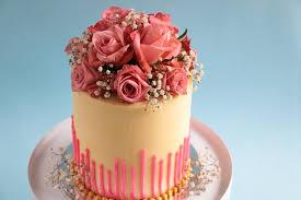 flower cake edges fresh flower bouquet cake tutorial