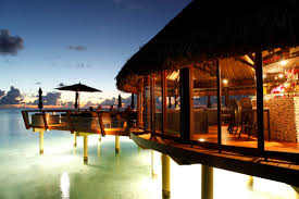 the hotel kia ora also hosts an overwater bar bungalow a favorite