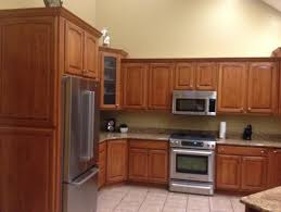 picturesque staining oak kitchen cabinets a cabinet small room