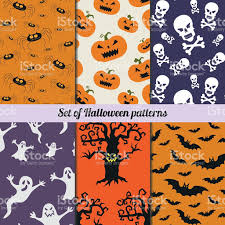 set of halloween vector patterns stock vector art 609794520 istock