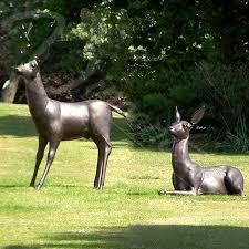 size outdoor bronze deer garden statues vincentaa sculpture