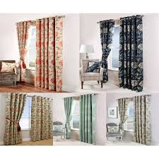 Floral Jacquard Curtains Scatter Box Maisey Floral Jacquard Eyelet Curtains Ebay