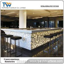 china factory price artificial marble stone glowing bar counter