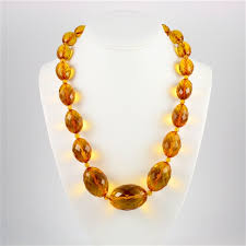 amber beads necklace images Polish art center 23 quot faceted amber necklace jpg