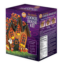 pre baked halloween cookie house kit wilton