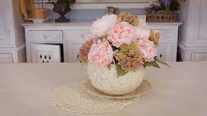 Table Flowers by Simple Peony Table Flowers Arrangement Youtube