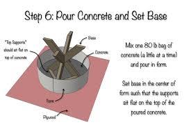diy x brace side table w concrete top free u0026 easy plans