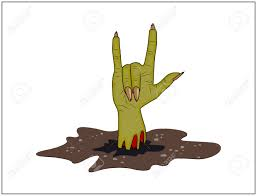 Halloween Vector Free Zombie Hand Horns Satan Sign Out Of Ground Halloween Vector