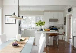 Beach Cottage Kitchen by Prefabricated Beach House With Small Coastal Interiors Home