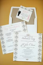 art deco inspired wedding invitations happy hands project