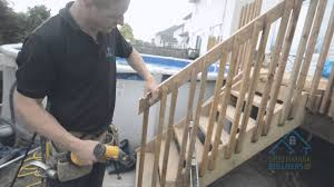 Decking Kits With Handrails How To Build An Economical Deck Railing Out Of Wood Youtube