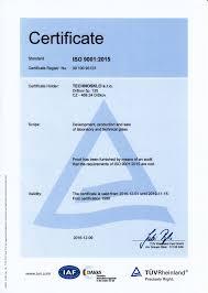 certificate iso technosklo ltd