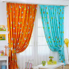 Blue And Orange Curtains Orange And Blue Curtains Furniture Ideas Deltaangelgroup