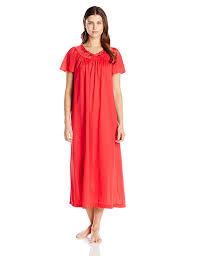 shadowline women u0027s petals 53 inch short flutter sleeve long gown