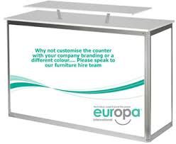Reception Desk Hire Registration Desk Counter Hire