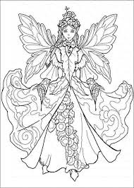 printable fairy coloring page for adults free printable fairy