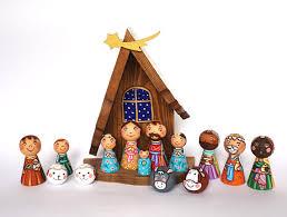 nativity nativity set peg doll nativity creche