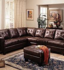 brown leather sectional sofa with recliner sofas u0026 futons