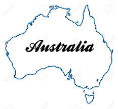 Blank Map Of Australia by Outline Map Of Australia Over A White Background Royalty Free
