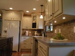 Ceramic Tile Backsplash by Cabinets U0026 Drawer Under White Cabinet Kitchen Lights Gray Ceramic