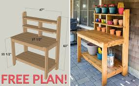 Free Plans To Build A Woodworking Bench by How To Build A Potting Bench Free Plan Home Design Garden