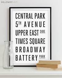 Nyc Home Decor New York Subway Sign Art Subway Print Bus Roll City Poster