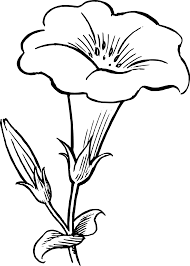 black and white cartoon flowers free download clip art free