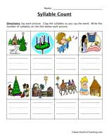 syllable worksheet have fun teaching
