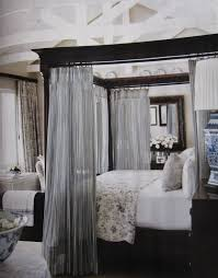 Beauteous  Gray Canopy Decor Decorating Inspiration Of Best - Black canopy bedroom sets queen