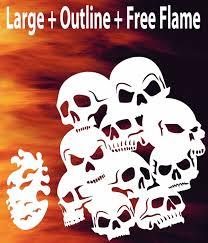 airbrush skull background 3 flame stencil skulls template spray