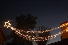 shooting starhristmas lights outdoor icicle